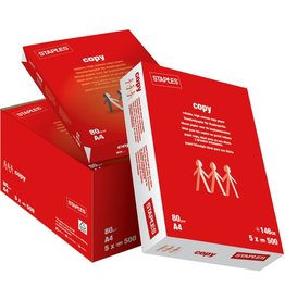 STAPLES Kopierpapier Copy, A4, 80g/m², weiß, 5x500Bl.