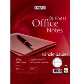 LANDRÉ Kanzleipapier OFFICE, kariert 5 mm, A3 gef. auf A4, 80g/m², weiß