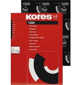 Kores Kohlepapier 1200, Schreibmaschine, Trägermaterial: Wachs, A4, schwarz
