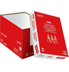 STAPLES Kopierpapier Copy, ungeriest, A4, 80g/m², weiß