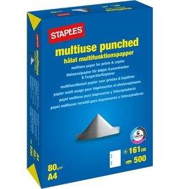 STAPLES Multifunktionspapier multiuse, A4, 80g/m², 4fach Lochung, weiß