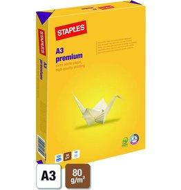 STAPLES Multifunktionspapier Premium, A3, 80g/m², ECF, hochwe