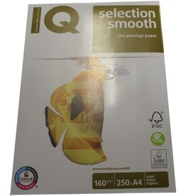 IQ Multifunktionspapier selection smooth, A4, 160 g/m², hochweiß