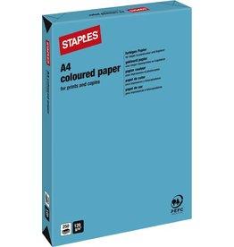 STAPLES Multifunktionspapier, A4, 120g/m², deep blue / royalblau, intensiv