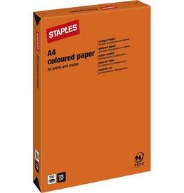 STAPLES Multifunktionspapier, A4, 120g/m², orange, intensiv