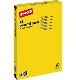 STAPLES Multifunktionspapier, A4, 120g/m², yellow / kanariengelb, intensiv