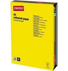 STAPLES Multifunktionspapier, A4, 160 g/m², sortiert, intensiv
