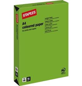 STAPLES Multifunktionspapier, A4, 160g/m², deep green / maigrün, intensiv