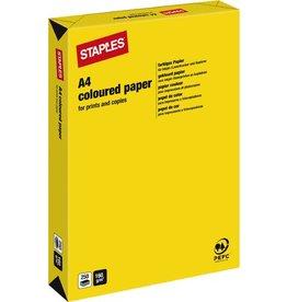 STAPLES Multifunktionspapier, A4, 160g/m², yellow / kanariengelb, intensiv