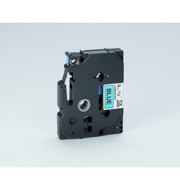 Brother Schriftbandkassette TZe, PES, laminiert, 9 mm x 8 m, schwarz auf blau