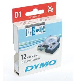 DYMO Schriftbandkassette, D1, 12 mm x 7 m, blau auf weiß