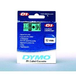 DYMO Schriftbandkassette, D1, 12 mm x 7 m, schwarz auf grün