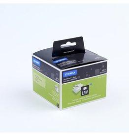 DYMO Etikett LabelWriter, Adressetikett, Folie, 89 x 36 mm, farblos