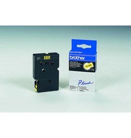 Brother Schriftbandkassette TC, 12mmx7,7m, schwarz auf gelb