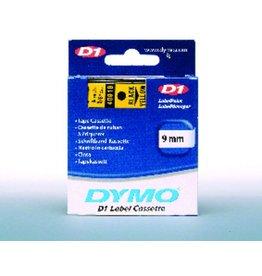 DYMO Schriftbandkassette, D1, 9 mm x 7 m, schwarz auf gelb