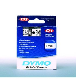 DYMO Schriftbandkassette, D1, 9 mm x 7 m, schwarz auf weiß