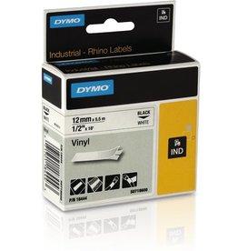 DYMO Schriftbandkassette, Rhino, Vinyl, 12 mm x 5,5 m, schwarz auf weiß