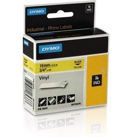 DYMO Schriftbandkassette, Rhino, Vinyl, 19 mm x 5,5 m, schwarz auf gelb
