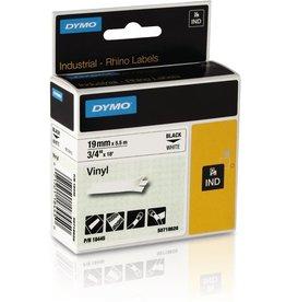 DYMO Schriftbandkassette, Rhino, Vinyl, 19 mm x 5,5 m, schwarz auf weiß