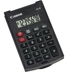 Canon Taschenrechner, AS-8, Batteriebetrieb, mit Schutzhülle, 8stellig