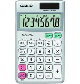 Casio Taschenrechner, SL-305ECO, Solar/Batterie, 8stellig, 70x118,5x8,5mm