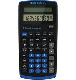 TEXAS INSTRUMENTS Taschenrechner, TI 30 ECO RS, Solar, flaches Display, 10stlg., 1z.