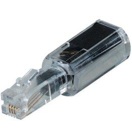 hama Kabelentwirrer, für Telefonhörer, schwarz, transparent