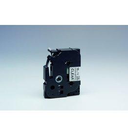 Brother Schriftbandkassette, TZe, perm., lam., 18mmx8m, schwarz auf farblos
