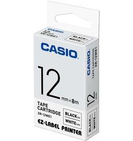 Casio Schriftbandkassette, XR-12WE1, 12 mm x 8 m, schwarz auf weiß