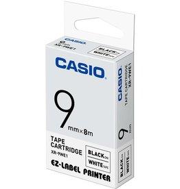 Casio Schriftbandkassette, XR-9WE1, 9 mm x 8 m, schwarz auf weiß