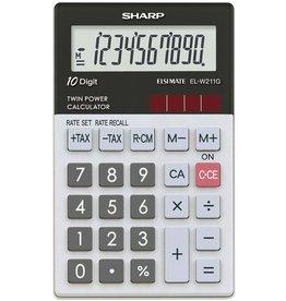 Sharp Taschenrechner, EL-W211G, 10stlg., 70x117x8,15mm
