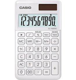Casio Taschenrechner, SL-1000SC, LCD, 10stellig, 71 x 120 x 9 mm, 55 g, weiß