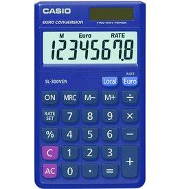 Casio Taschenrechner, SL-300VER, Solar/Batterie, flaches Display, 8stellig
