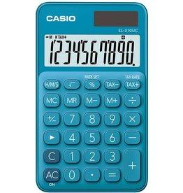 Casio Taschenrechner, SL-310UC, LCD, 10stellig, 1zeilig, 50 g, blau