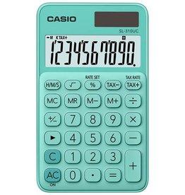 Casio Taschenrechner, SL-310UC, LCD, 10stellig, 1zeilig, 50 g, grün