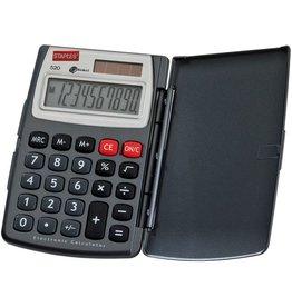 STAPLES Taschenrechner, Standard 520, Solar/Batterie, 10stlg., 77,5x120x11,5mm