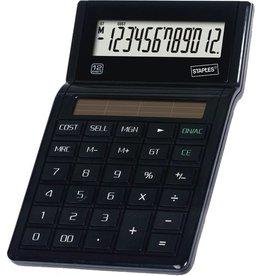 STAPLES Tischrechner ECO, E23, Solarbetrieb, 12stellig, schwarz