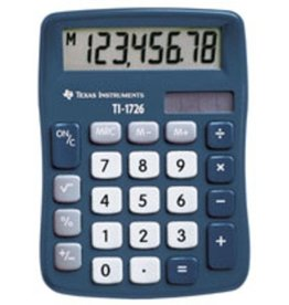 TEXAS INSTRUMENTS Tischrechner, TI-1726, Solar/Batterie, flaches Display, 8stellig, 1z.