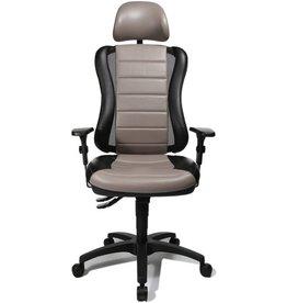 TOPSTAR Bürodrehstuhl Headpoint RS, mit Armlehnen, schwarz/grau