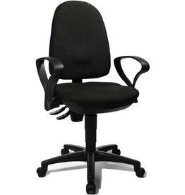 TOPSTAR Bürodrehstuhl Point 45, schwarz, mit Armlehnen, R-Form, schwarz