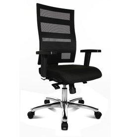 TOPSTAR Bürodrehstuhl X-Pander BIG Deluxe, mit Armlehnen, Trevira CS, schwarz