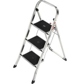 Hailo Klapptritt K30, Alu, 3 Stufen, Länge max.: 2,46m, Tragf.: 150kg, silb