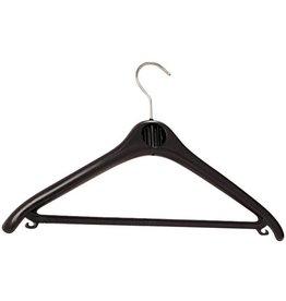 unilux Kleiderbügel, ABS, Haken drehbar, mit Steg, mit Häkchen, schwarz