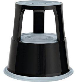 WEDO Rollhocker, Metall, 29,5/43,5 x 44 cm (oben/unten), schwarz