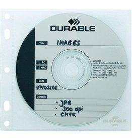 DURABLE CD-Hülle, zum Abheften, PP, für: 1CD, farbl., tr