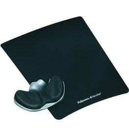 Fellowes Mauspad Health-V™, mit Handgelenkauflage, 23 x 28 cm, 35 mm, schwarz