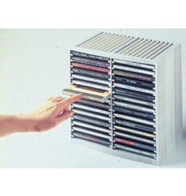 Fellowes CD-Ablage Spring, 265x165x260mm, für: 48CDs, platingrau