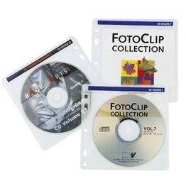hama CD-Hülle, für: 2 CDs/DVDs, farblos/weiß, transparent