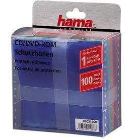 hama CD-Hülle, PP, für: 1CD, sortiert
