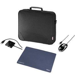 hama Laptoptasche Sportsline Basic, Set, Polytex, D: 39,12cm, sw